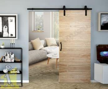 RE20 набір для розсувних дверей Valcomp REA Design Line 850-1050 мм, чорний матовий