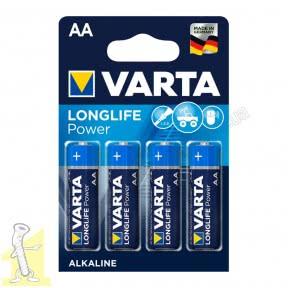 Батарейка VARTA LONGLIFE Power AA блістер 4 шт. ALKALINE
