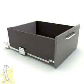 Шухляда висувна Sevroll SEVROLLBOX SLIM H-167мм L-450мм графіт (222924)