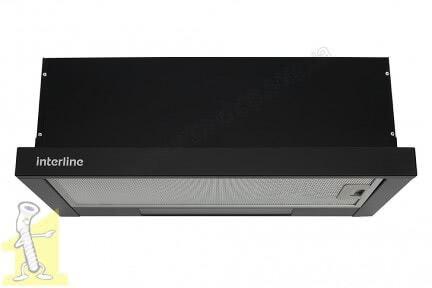 Кухонна витяжка INTERLINE SLIM 60 чорна (650) BL A/60/2/T
