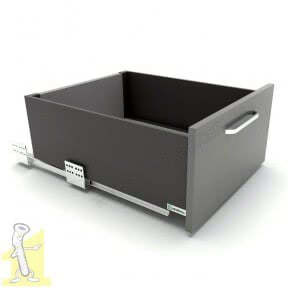 Шухляда висувна Sevroll SEVROLLBOX SLIM H-167мм L-400мм графіт (222923)