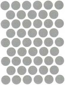 Заглушка WEISS під конфірмат самоклеюча К-501 Titanium
