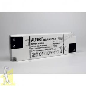 Трансформатор LED Altori PREMIUM 30Wp12V