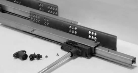 Стабілізатор L-1100 мм + кріплення для скритих направляючих Linken System