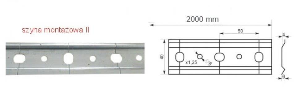 Шина монтажна SAZ-II  L-2000 оцинкована для підвісу регульованого