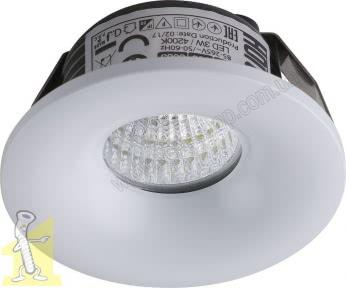 Светильник LED BIANCA-3W 4200K 220V белый HOROZ