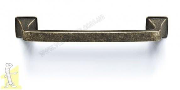 Ручка для меблів D-1007-128 у кольорі MAB матова антична бронза