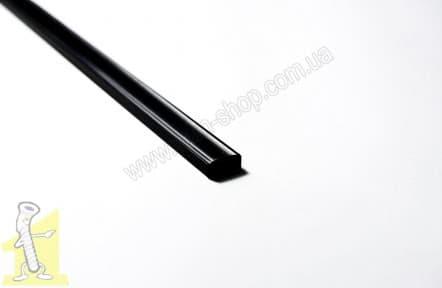 Профiль LED алюмінієвий ALTORI ЧОРНИЙ накладний, 2м, прозорий