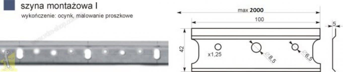 Шина монтажна  L-2000 оцинкована для підвісу регульованого