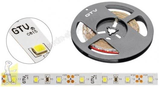 Стрічка LED GTV 3528,4.8W/м,рулон 5м,8мм,світло нейтральне біле  LD-3528-300-20-NE-A