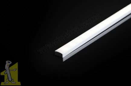 Профiль LED алюмінієвий ALTORI накладний, 2м, прозорий